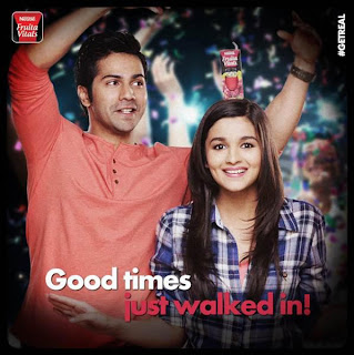Varun & Alia Bhatt for Nestle's Fruita Vitals Print ads