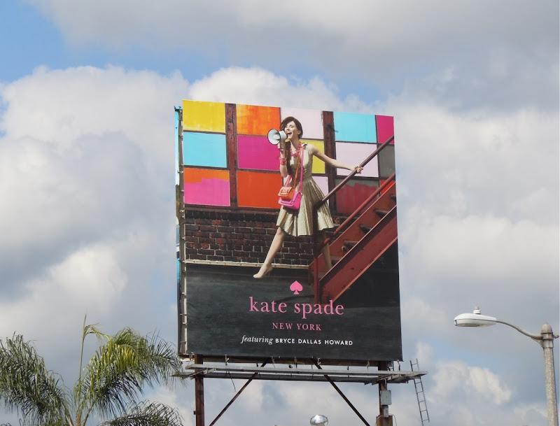 Bryce Dallas Howard Kate Spade billboard