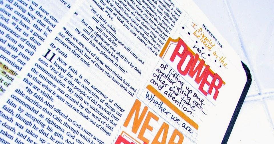 Bonita Rose: Bible Journaling : Hebrews 10:24-25