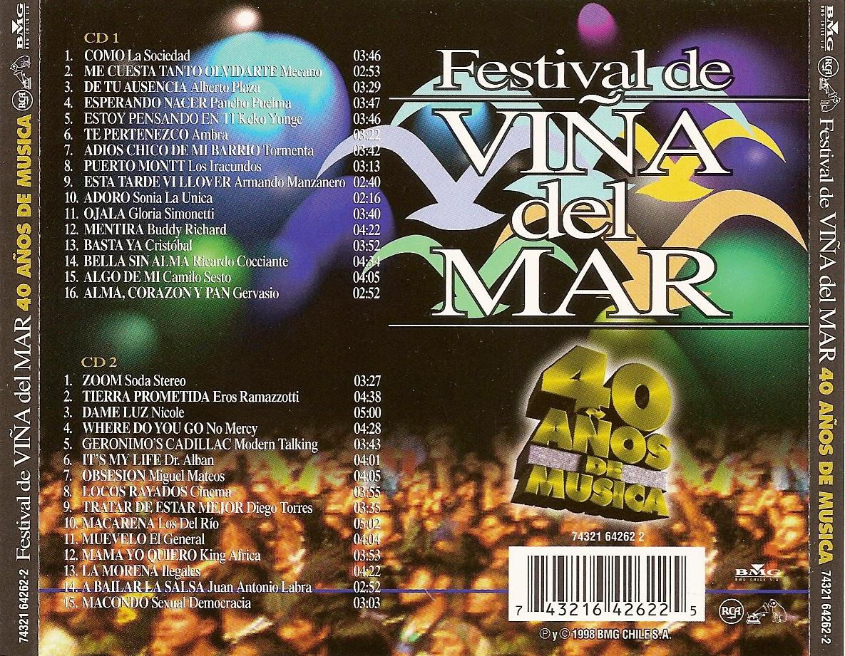 cd 40 años Festival de Viña las mejores canciones FVM_-_Back
