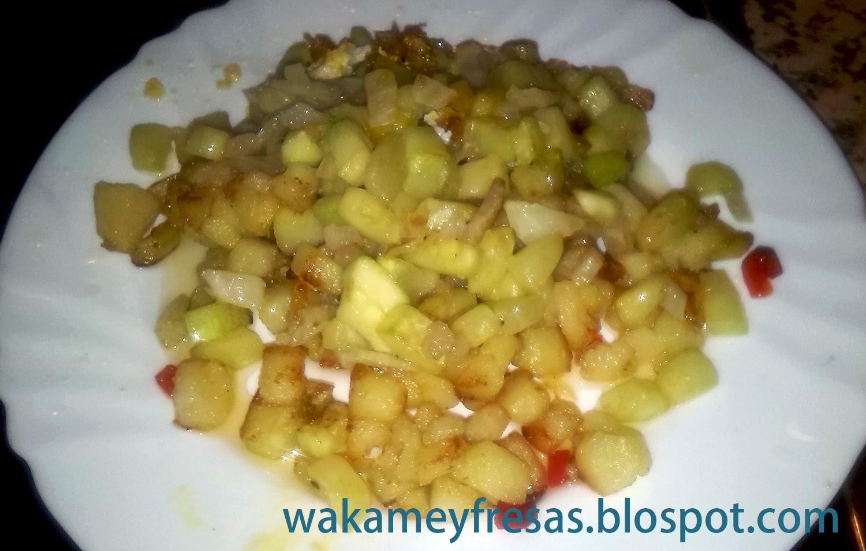 emplatado de las patatas con hinojo