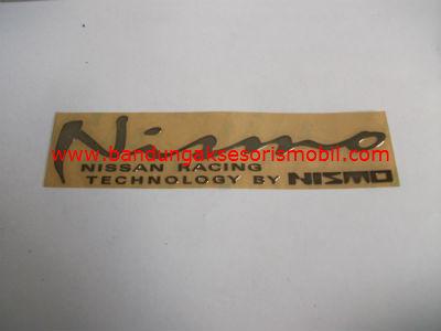 Emblem Alumunium 3M Besar Chrome Nismo
