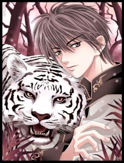 desenho, de, tigre, anime