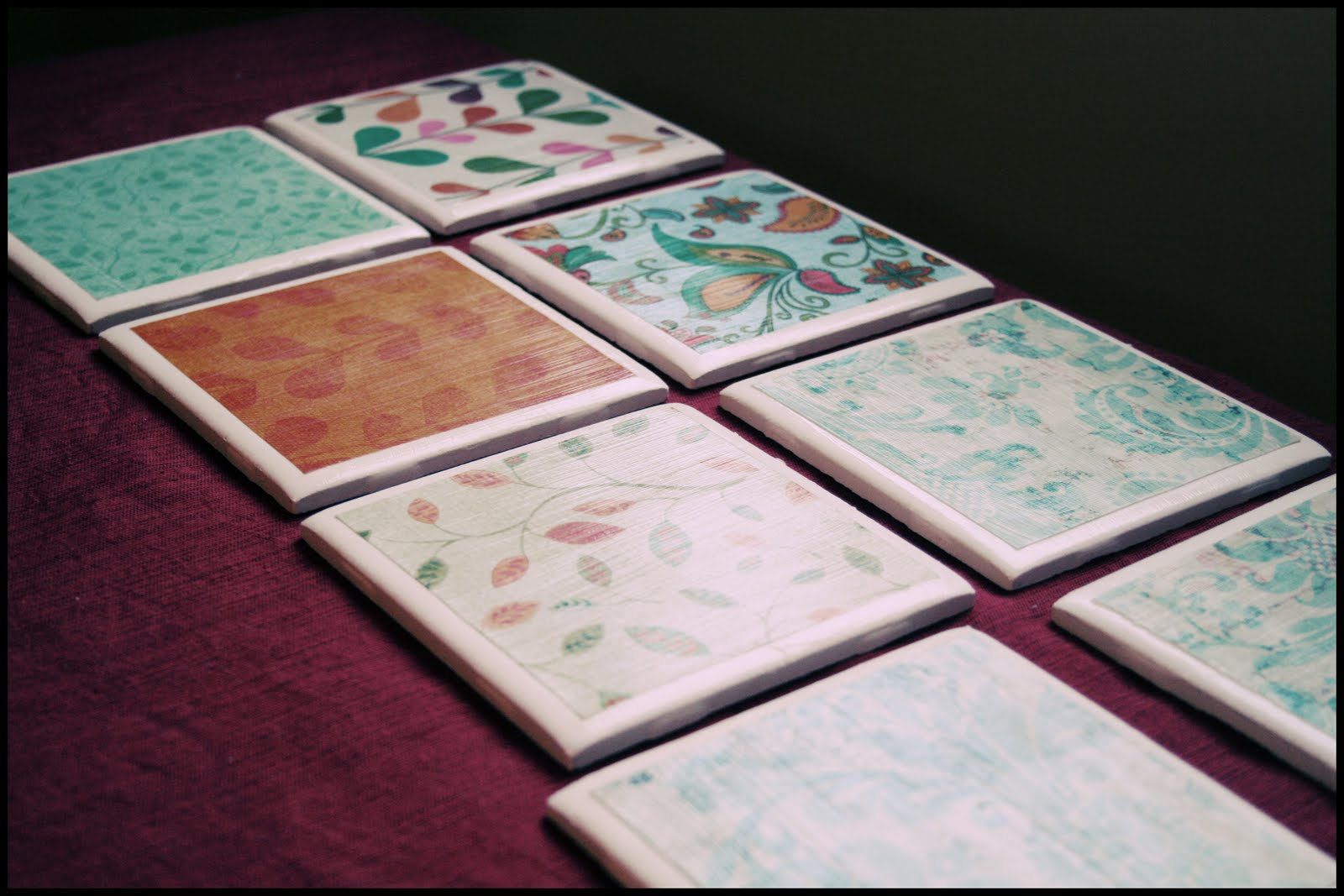 Virginia and charlie my diy for Ceramic tile craft ideas