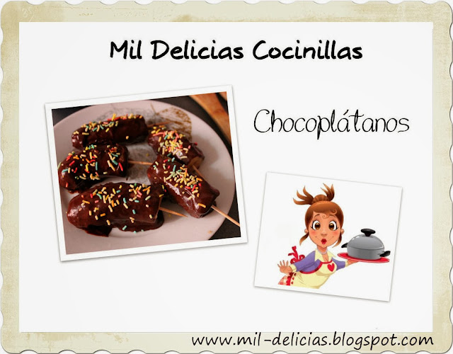 platanos con chocolate