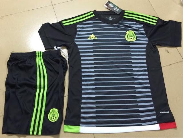Jersey Setelan Grade Ori Timnas Mexico Home Coppa Amerika 2015-2016