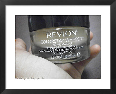 REVLON COLORSTAY WHIPPED CREME FOUNDATION in Natural ochre Review and Swatch