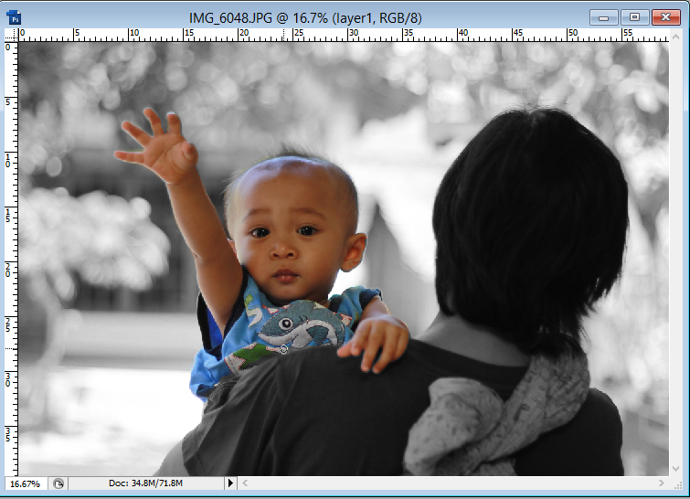 pic cara belajar how to create tutorial photoshop pemula membuat selektif color hitam putih di tengah warna 2