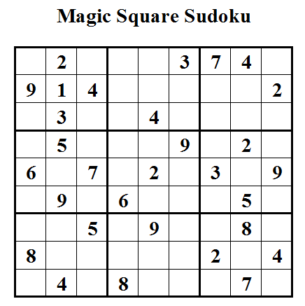 Magic Square Sudoku (Daily Sudoku League #28)