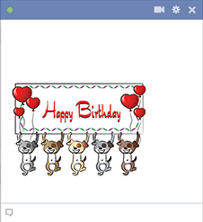 Happy Birthday Puppies for Facebook