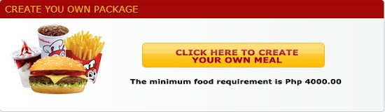 Create your own food package for Jollibee party