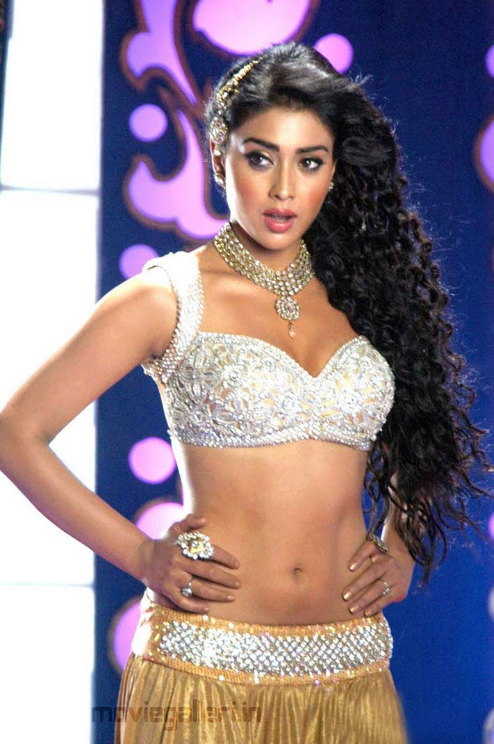Shriya Saran Sexy Body Pics In Komaram Puli 2011 Movie