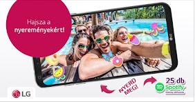LG Q6 mobilt vagy Spotify előfizetést nyerhetsz!