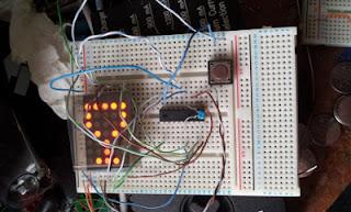 matriz de LEDs com PIC