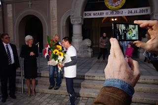 Pielgrzymka biegowa Augusta Jakubika z Rudy Śląskiej do Watykanu. fot. Łukasz Cyrus
