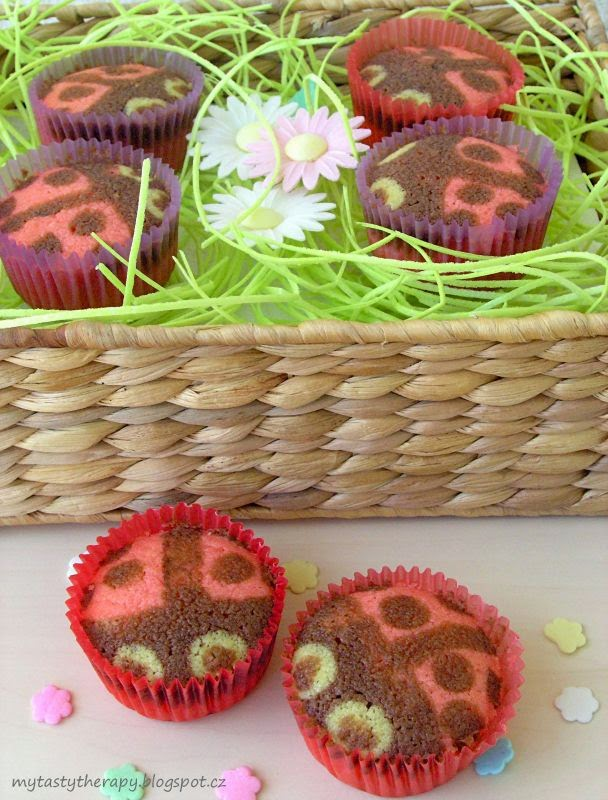 beruškové cupcakes