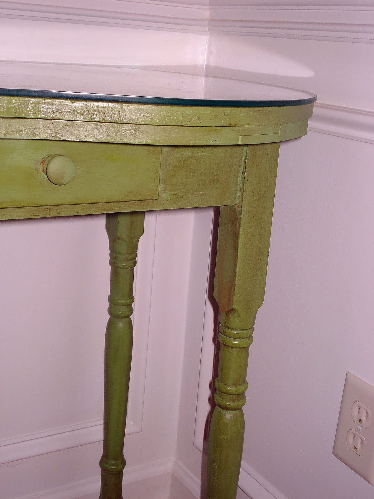 Green Foyer Table : Before meets after green vanity foyer table