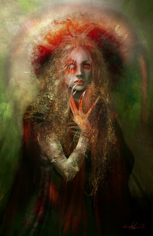 Kirsi Salonen ilustrações fantasia sombria