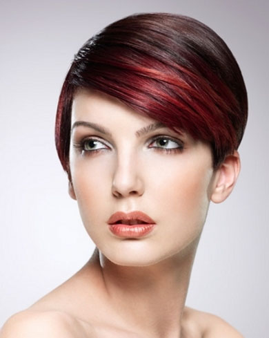 Stylish Red Hair Highlights 2014