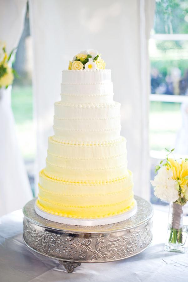 Wedding Cakes Pictures Yellow Ombre Wedding Cake