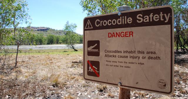 Billabong, Creek, River, Crocodiles, Kakadu National Park Billabong, Northern Territory, Australia