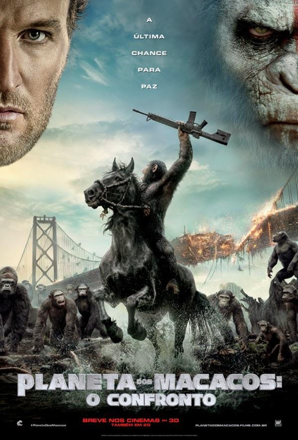 """Poster do filme """"Planeta dos Macacos: O Confronto"""""""