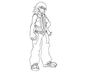 #3 Riku Coloring Page