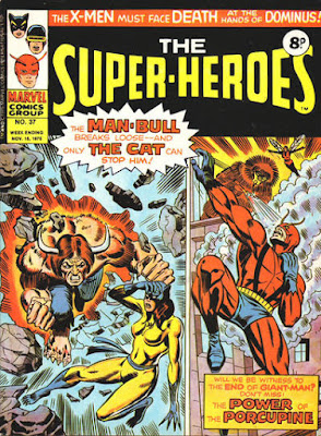 Marvel UK, The Super-Heroes #37, the Cat and Giant-Man