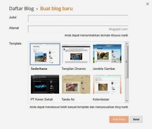 cara membuat blog 3