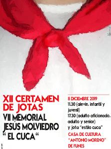 """XII Concurso de Jotas de Funes 7º Memorial Jesús Molviedro """"EL CUCA"""""""