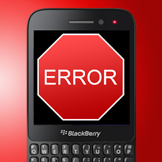 Blackberry 10 error