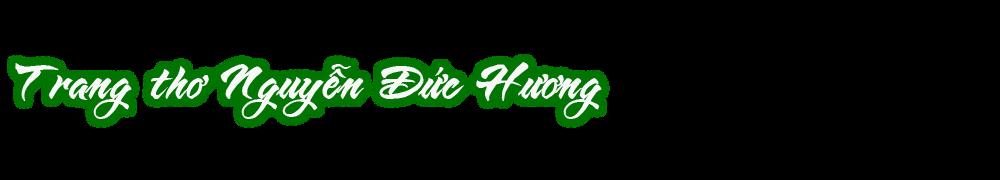 Trang thơ Nguyễn Đức Hương