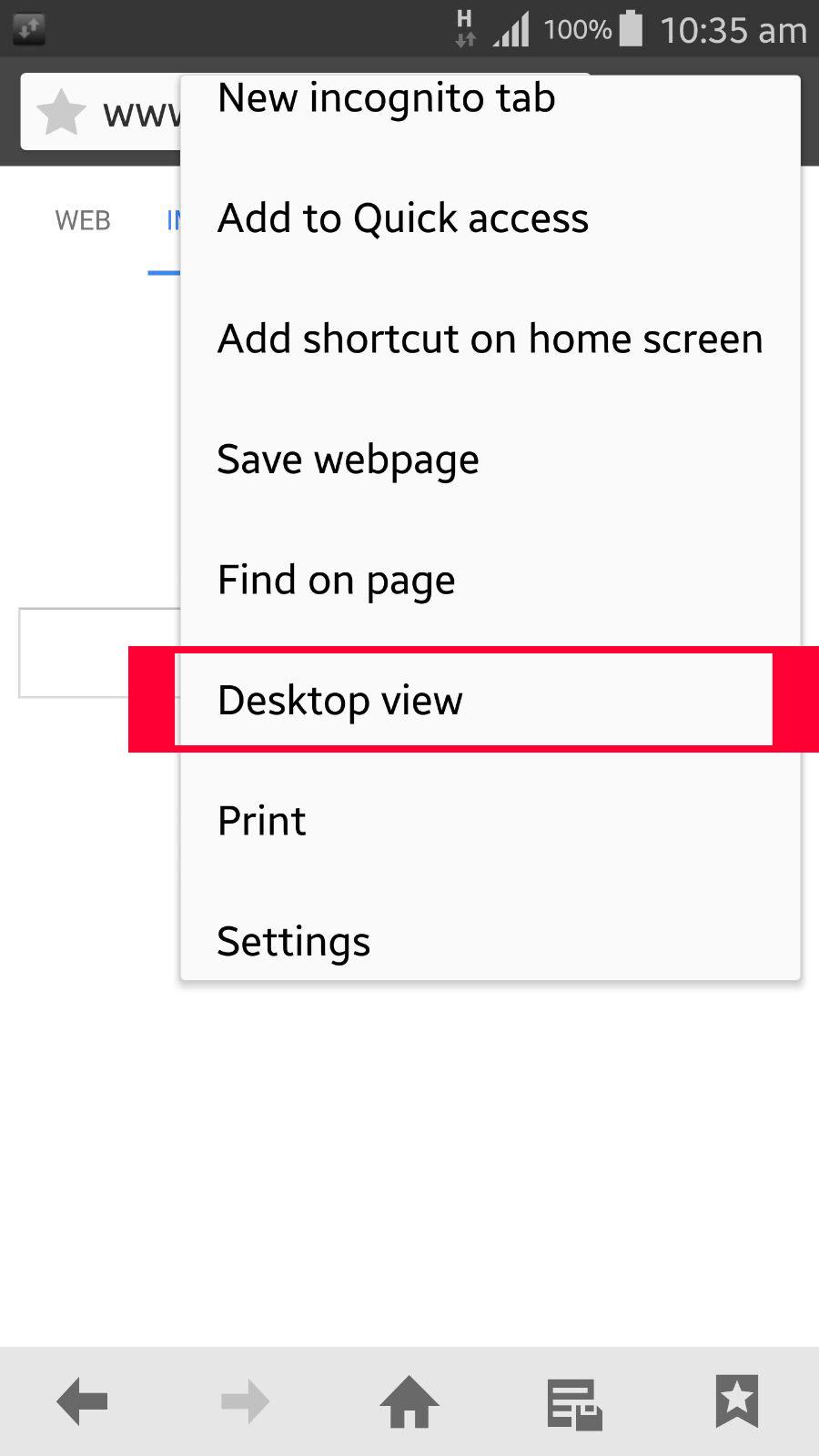 2 select desktop view