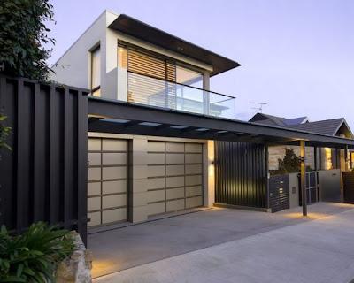 Model Desain Eksterior Garasi Rumah Minimalis