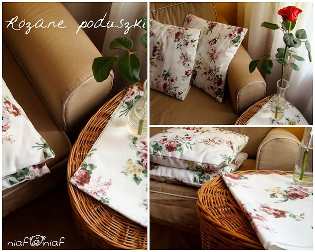 Różane poduszki