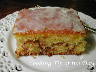 Honey Bun Cake Made With Buttermilk