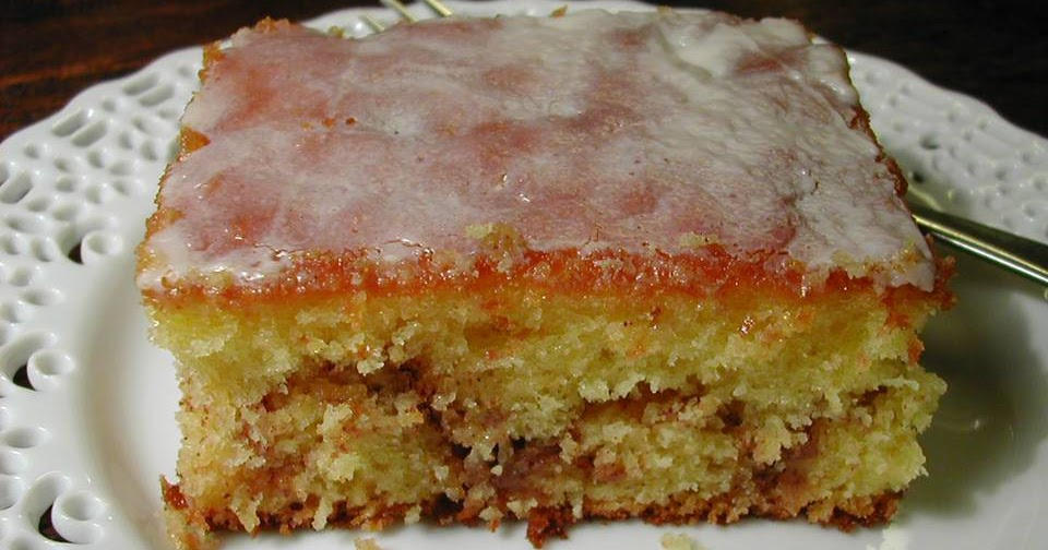 Honey Bun Cake Made With Buttermilk