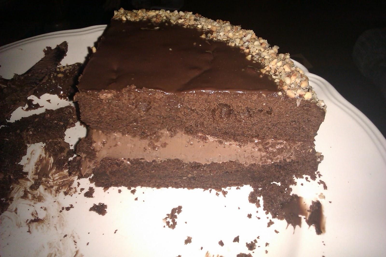 Gateau au chocolat fourre ganache