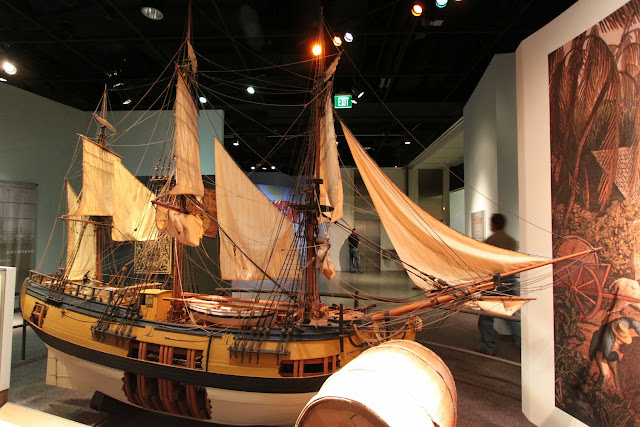 Ship model at National Museum of American History in Washington DC, USA
