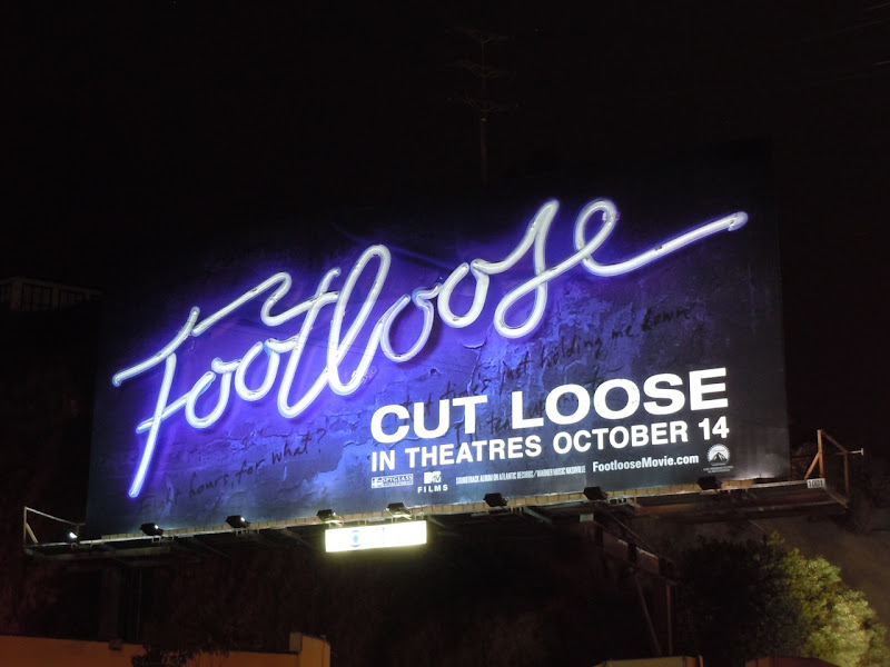 Neon Footloose sign billboard