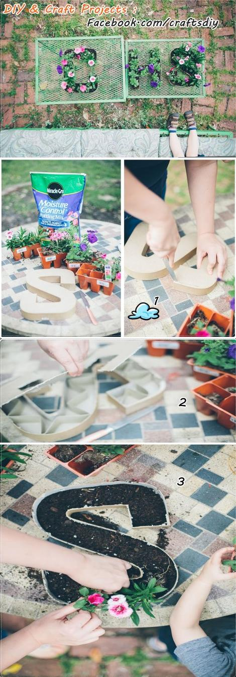 DIY : Initial Letter Planters