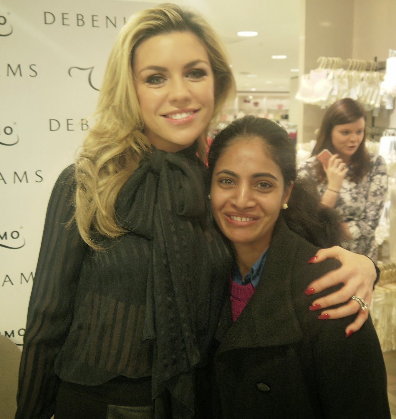With Abbey Clancy at Debenhams Oxford Store