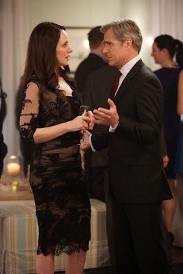 "Victoria's Dolce & Gabbana Elbow-Sleeve Ruched Tulle Dress  Revenge Season 2, Episode 20: ""Engagement"""