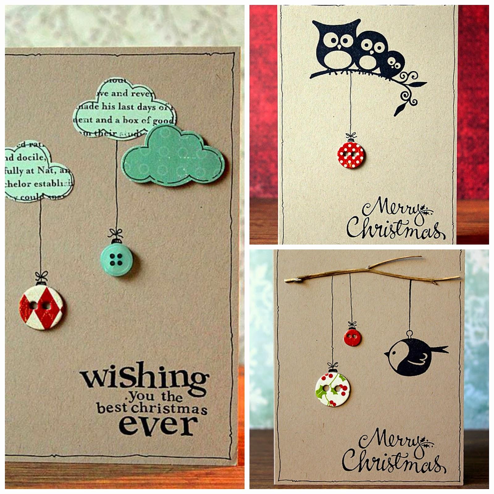 ideas tarjeta navidad diy christmas card
