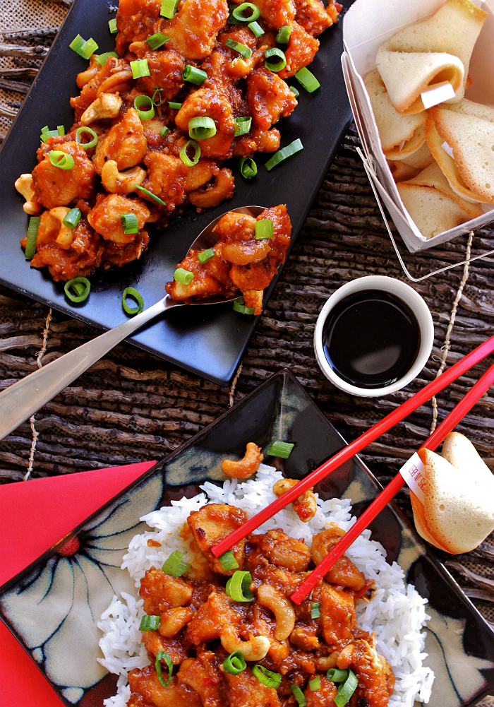 Make time for a date night this holiday season with our cashew chicken recipe, K-Y® Touch and DIY Frisky Fortunes. #KYTrySomethingNew (ad)
