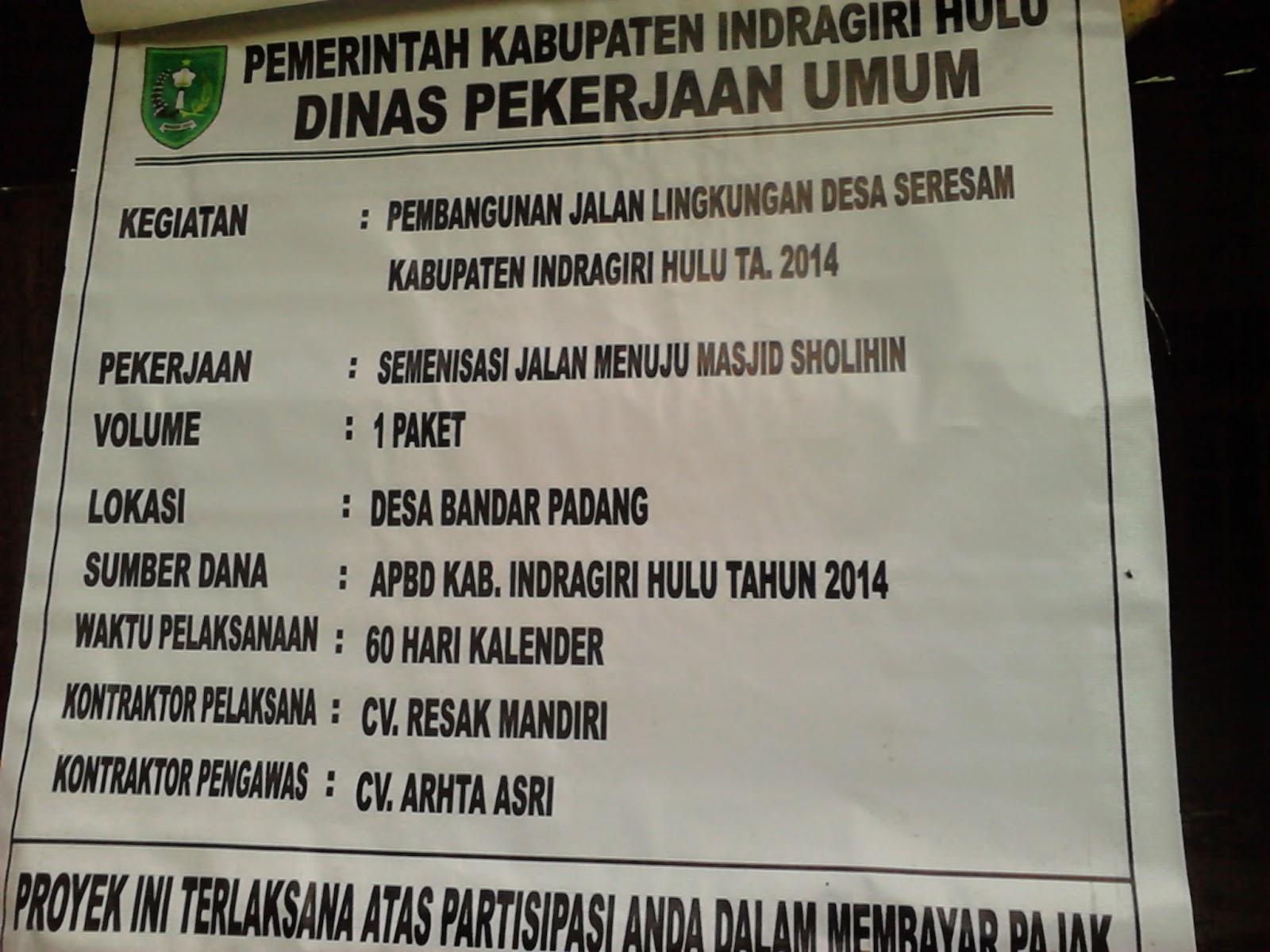 CV Resak Mandiri DEVID EKHA HIDAYAT semenisasi di Bandar Padang