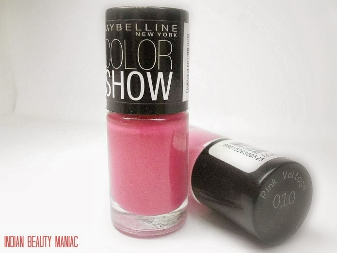 MAYBELLINE Newyork Color Show Nail Paint in Hooked on Pink Review and Swatch