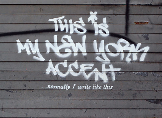 "Banksy ""This Is My New York Accent"" New Street Art Piece For ""Better Out Than In"" Project In New York City. 2"