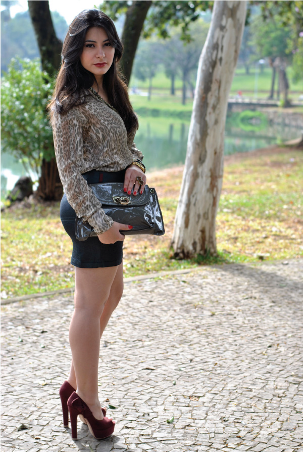 Bárbara Urias, look do dia, estampa, animal print, Pampulha, Belo Horizonte