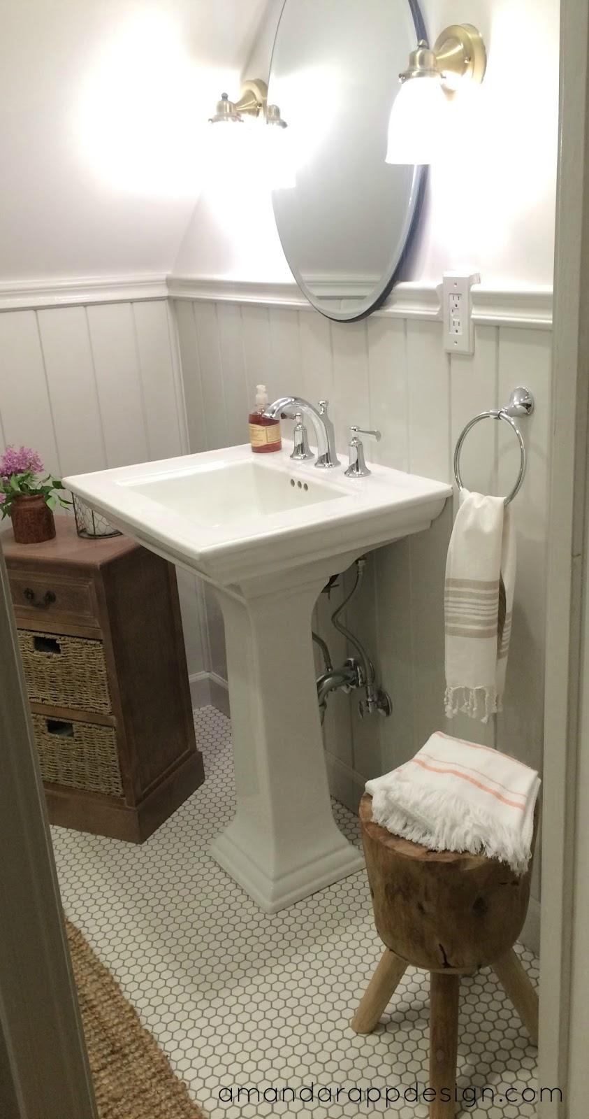 Elliston Pedestal Sink : We splurged on a custom glass shower door and couldnt be more pleased ...